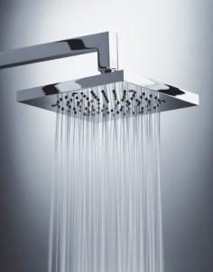 Hoje em dia temos também nas residênicas as duchas quadradas, mas precisa de aquecedor solar, visto que não possuem resistência para aquecer a água.